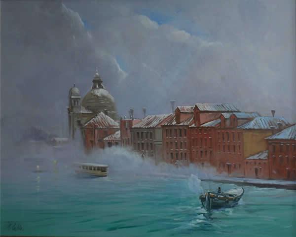 """""""Snow, Giudecca"""" by J. Geoffrey Leckie"""